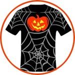 Футболка на Хеллоуин, мастер-класс по росписи ткани