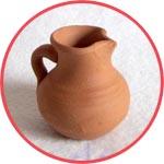 Кувшинчик глиняный миниатюрный