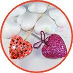 Сердечки-валентинки декор из пенопласта