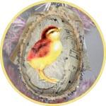 Прозрачное яйцо с декупажем - пасхальный декор