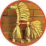 Огненный конь из лыка - мужской оберег