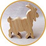 Коза деревянная символ 2015 года купить