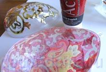 Бумага декопач и акриловая краска