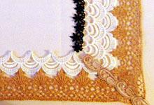 Рамка из текстильного кружева