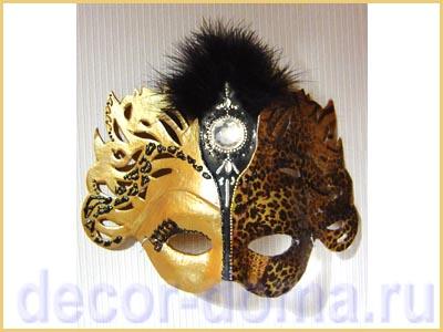 Карнавальная маска своими руками, мастер-класс