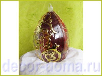 Пасхальное яйцо декор золото