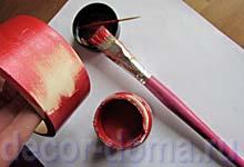 Оерашивание браслета краской Майя Голд
