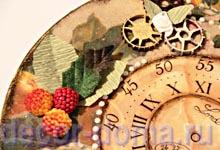 Часы винтажные с бабочкой, пошаговый мастер-класс