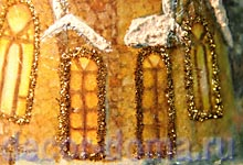 Декупаж шампанского на Новый Год, золотые блестки