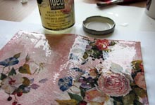 Покрытие стекловидным лаком