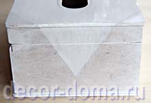 Декупаж, мастер-класс, шкатулка для салфеток с пионами
