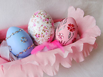 Пасхальные яйца - стразы и декопач