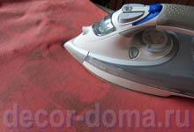 Закрепляем текстильную краску утюгом