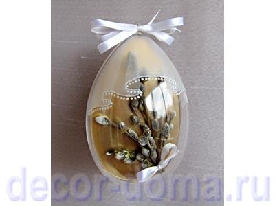 Пасхальное яйцо прозрачное с вуалью, пошаговый мастер-класс