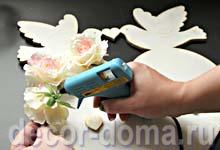 Часы свадебные с розами, мастер-класс, декор розами