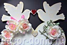 Часы свадебные с розами, мастер-класс, декор