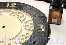 Часы в стиле Стимпанк, мастер-класс, имитация ржавчины на железе