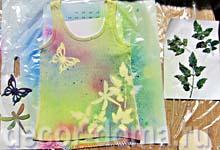 Напыление красок Marabu Fashion Spray, шаблоны сняты