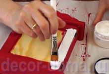 Ключница шебби-шик с цветами, пошаговый мастер-класс