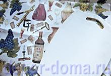 Загрунтованная доска и декупажная карта Виноделие