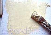 Акриловая краска цвет слоновая кость