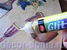 Контур с блестками German Glitter, декор