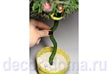 Топиарий новогодний своими руками, закрепление ствола в кашпо