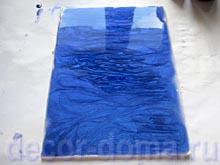 Заливка холста смешанной краской (по стеклу и Фентэзи)