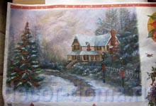 Рисовая декупажная бумага с рождественским пейзажем