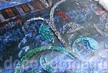 Гель Марабу Ледяные блестки и структурная масса Эффект инея