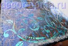 Гель Марабу Ледяные блестки переливающийся