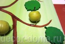 Приклеивание яблок