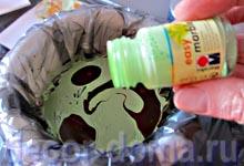 Марморирование - капаем краски