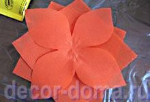 Детали цветка из гофрированной бумаги