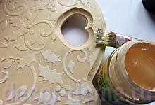Оерашивание акрилом по рельефному декору