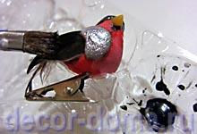 Превращение птички в снегиря, мастер-класс, черное крыло