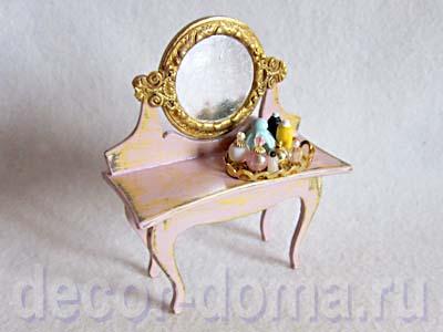 Кукольный туалетный столик шебби-шик, мастер-класс