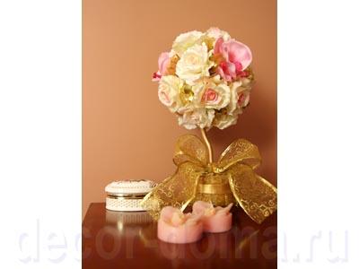 Топиарий свадебный с розами, своими руками, пошаговый мастер-класс