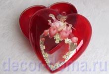 Готовая коробочка сердце