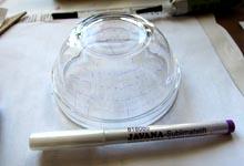 Разметка стекла фантомным маркером