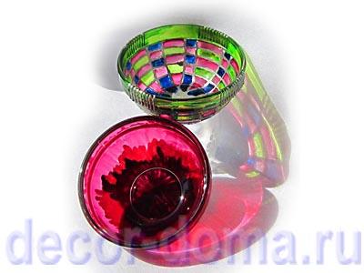 Стеклянная посуда - декор витражными красками