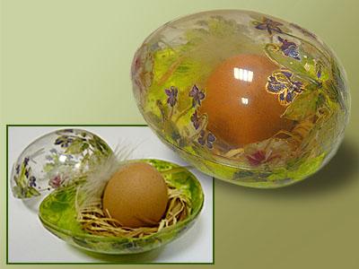 Пасхальное яйцо прозрачное, мастер-класс