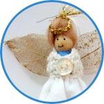 Ангел - крылышки из сетчатых листиков