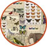 Рисовая декупажная бумага с бабочками