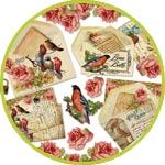 Декупажная бумага птички и письма