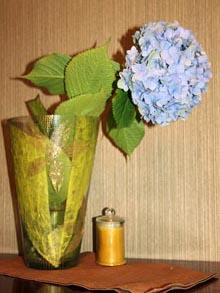 Декор стекла ваза
