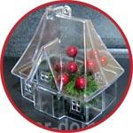 Домик-саше из прозрачного пластика