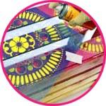 Краски в баллончиках - декор по трафарету