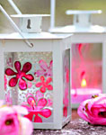 Краски по стеклу Марабу - декор фонарика