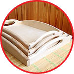 Набор деревянных подносов